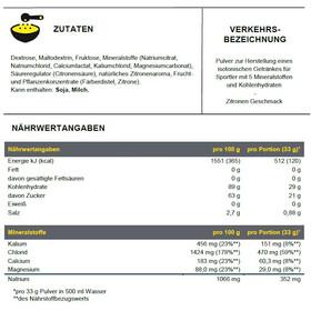 PowerBar Isoactive Isotonic Bote Bebida Deportiva 1320g, Lemon